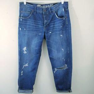 Madewell Oversized Distressed Boyfriend Jeans 29